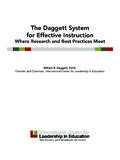 The Daggett System for Effective Instruction - ICLE