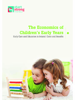The Economics of Children's Early Years - Start Strong