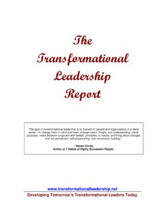 The Transformational Leadership Report