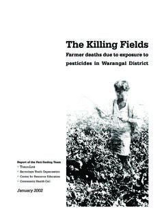 The Killing Fields - Toxics Link