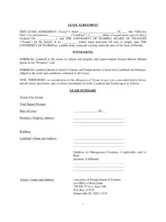 COMMERCIAL LEASE AGREEMENT - Florida