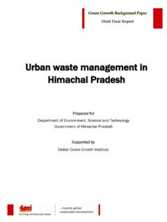 Urban waste management in Himachal Pradesh