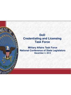 Credentialing and Licensing Task Force