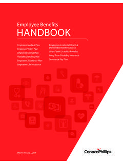 Employee Benefits HANDBOOK - ConocoPhillips