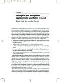 Descriptive and interpretive approaches to qualitative ...