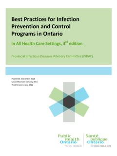 Best Practices for Infection Prevention and Control ...