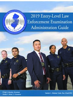 2019 Entry-Level Law Enforcement Examination dministration ...