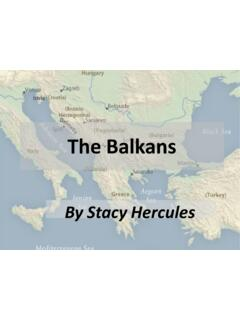 The Balkans - Middle Eastern studies