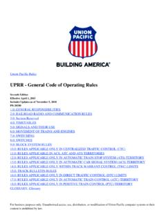 UPRR - General Code of Operating Rules - Union …
