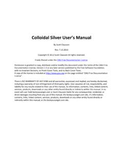 Colloidal Silver User's - Best You Can Get
