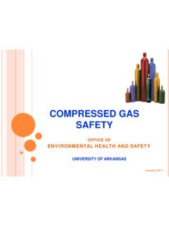 COMPRESSED GAS SAFETY - University of Arkansas