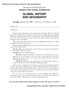 GLOBAL HISTORY AND GEOGRAPHY - NYSED