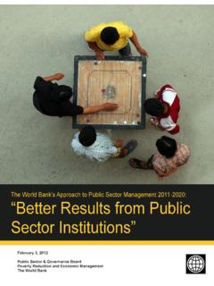The World Bank's Approach to Public Sector Management …