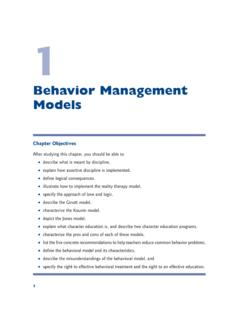 Behavior Management Models - SAGE Publications …