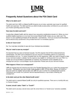 Frequently Asked Questions about the FSA Debit Card