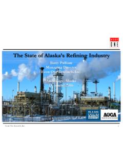 The State of Alaska's Refining Industry - Alaska Oil …