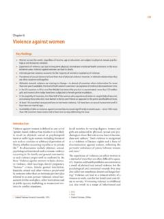 Chapter 6 Violence against women - Welcome to UNSD