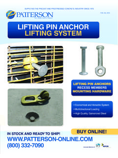 LIFTING PIN aNCHoR LIFTING SySTEM - Precast Concrete …