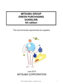 MITSUBA GROUP GREEN PURCHASING GUIDELINE 4th …