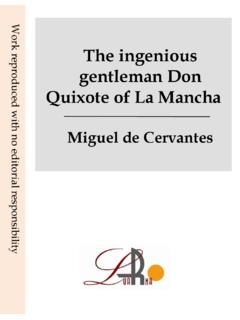The ingenious gentleman don Quixote de La …