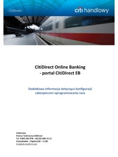 CitiDirect Online Banking - portal CitiDirect EB