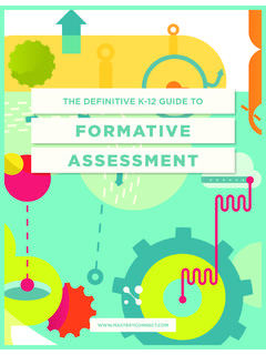 FORMATIVE ASSESSMENT - Masteryconnect
