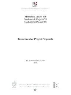 Guidelines for Project Proposals - sun.ac.za