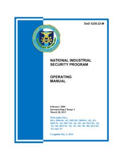 NATIONAL INDUSTRIAL SECURITY PROGRAM OPERATING …
