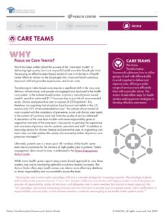 CARE TEAMS - nachc.org