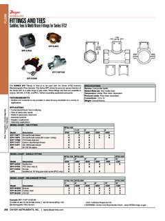 FLOW SERIES EFF FITTINGS AND TEES Saddles, Tees & Weld ...