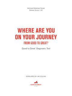 WHERE ARE YOU ON YOUR JOURNEY - Jim Collins