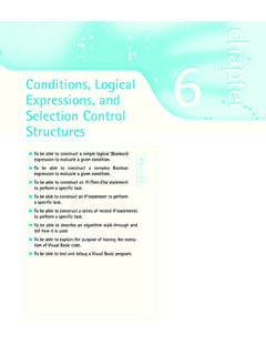 Conditions, Logical Expressions, and Selection Control ...