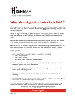 What should good minutes look like? - Charter School Tools