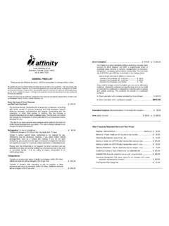 GENERAL PRICE LIST Crematory Fee - affinitycremation.com