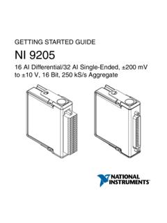 GETTING STARTED GUIDE to ±10 V, 16 Bit, 250 …