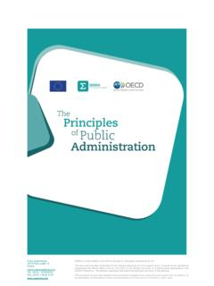 The Principles of Public Administration Reform - SIGMA