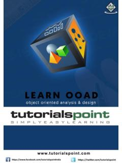 Object-Oriented Analysis & Design - tutorialspoint.com