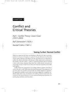Conflict and Critical Theories - SAGE Publications