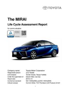The MIRAI Life Cycle Assessment for communication