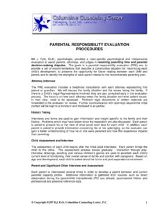 PARENTAL RESPONSIBILITY EVALUATION