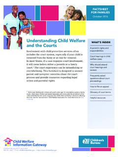 Understanding Child Welfare and the Courts