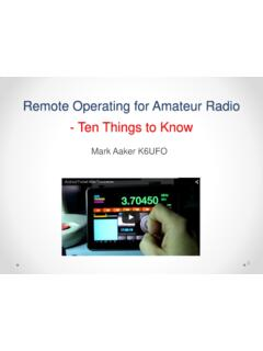 Remote Operating for Amateur Radio - Ten Things to Know