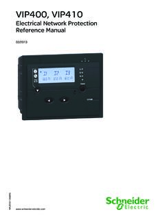VIP400, VIP410 - Electrical Network Protection - Reference ...