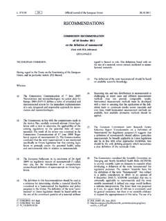Commission Recommendation of 18 October 2011 on the ...