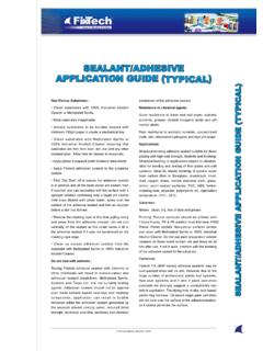 SEALANT/ADHESIVE APPLICATION GUIDE (TYPICAL)