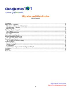 Migration and Globalization - globalization | globalisation