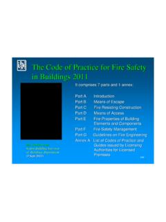 The Code of Practice for Fire Safety in Buildings 2011