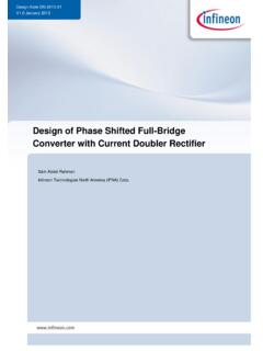 Design of Phase Shifted Full-Bridge Converter with Current ...