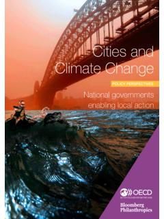Cities and Climate Change - OECD