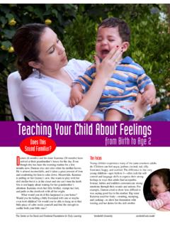 Teaching Your Child About Feelings - Vanderbilt …